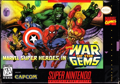 Super Nintendo Marvel Super Heroes War of the Gems Front Cover