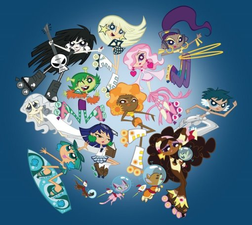 A funky fresh line of cool girl characters created by Lauren Faust, created with the goal of to offer up to other girls the same kind of joy and inspiration she experienced as a child, with images of girls and women as positive, active, individualistic, fun, and even a little edgy.