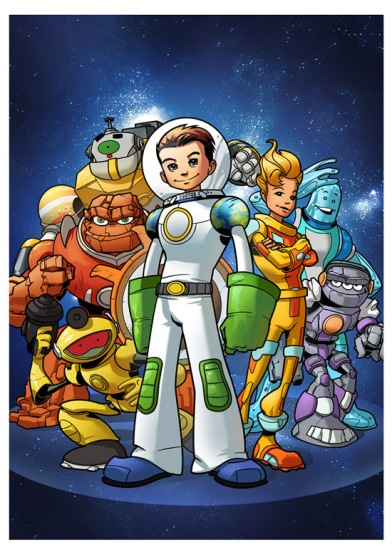 A line of toys from Fisher-Price designed for children ages 3–8, depicting various heroic characters each identified with a specific planet. These characters represent their planets in design and features, such as Mercury and Pluto are very small, while Jupiter is a larger toy.