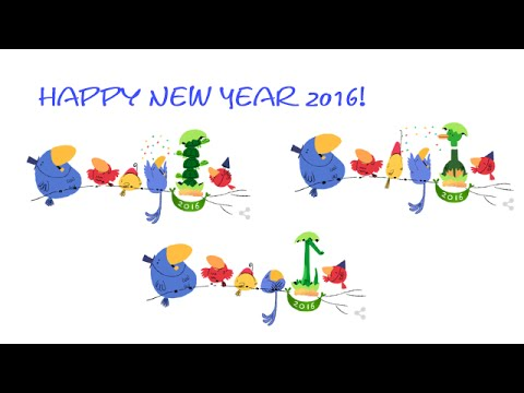 Google New Year Doodles