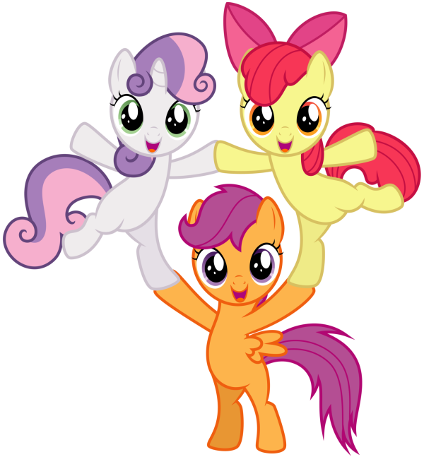 cutie_mark_crusaders___pyramid_by_thatguy1945-d6yfg3v