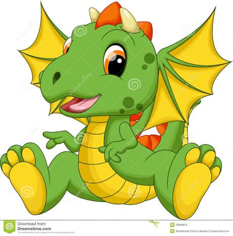cute-baby-dragon-cartoon-white-background-43696870