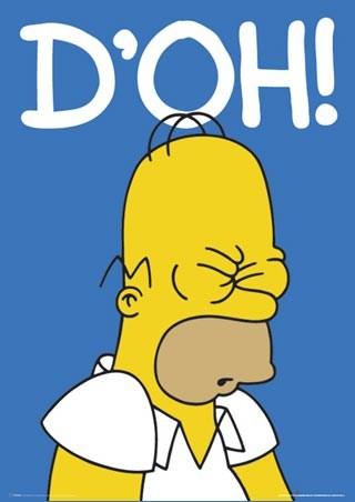 Homer Simpson D'oh!