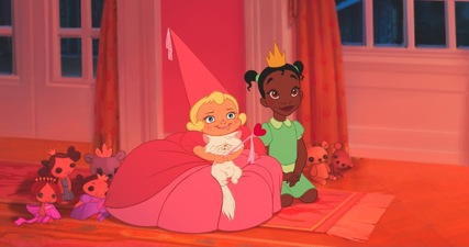 Little Tiana and Lottie