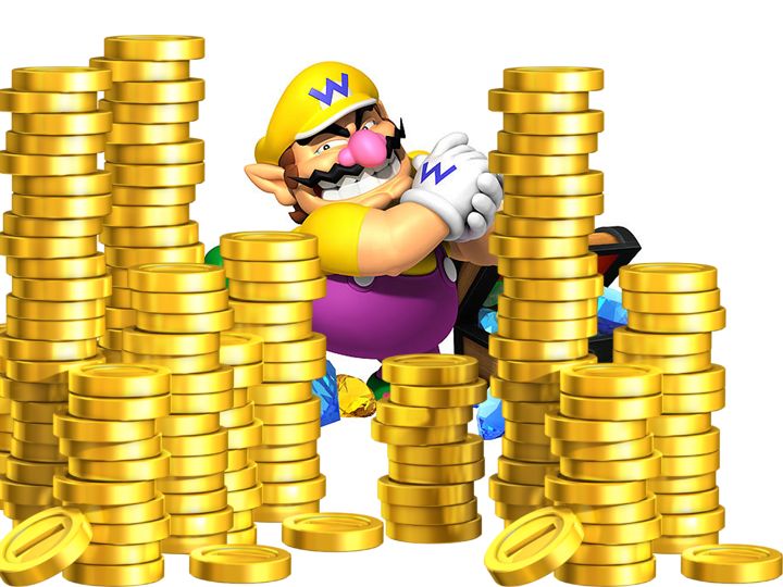 Wario with Gold Coins