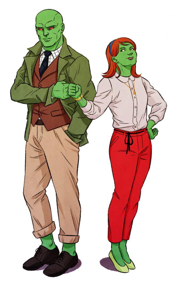 Martian Manhunter and Miss Martian