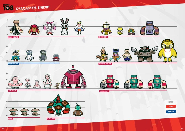 Hero 108 Character Lineup