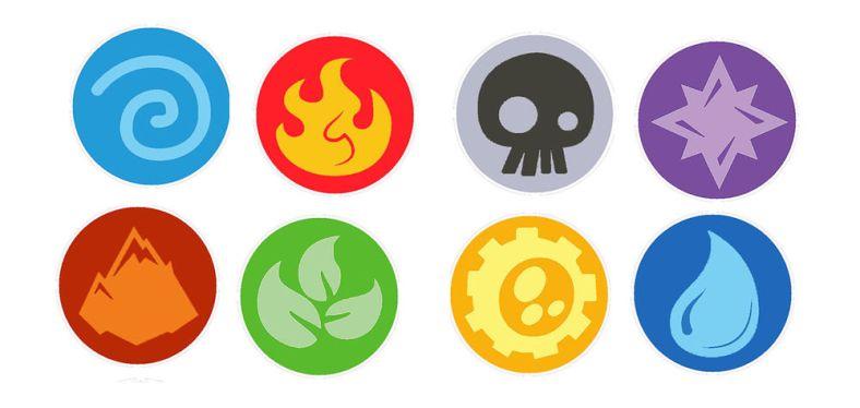Skylanders Element Symbols