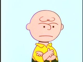 Charlie Brown angry