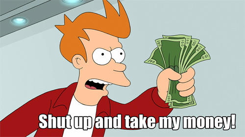 Fry money meme