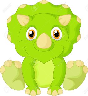 Cute-triceratops-cartoon--Stock-Vector-dinosaur-baby-cartoon