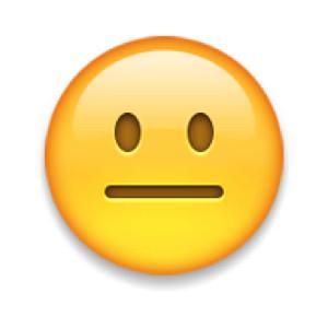 serious face emoji
