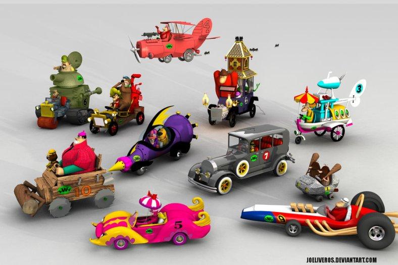 Wacky Races Toy Cars