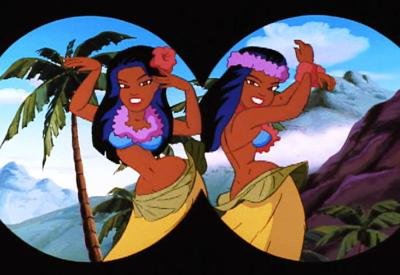 Freakazoid Is History Feakazoid sees hula girls crop
