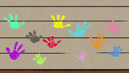 Homespun Loud_sibling_handprints